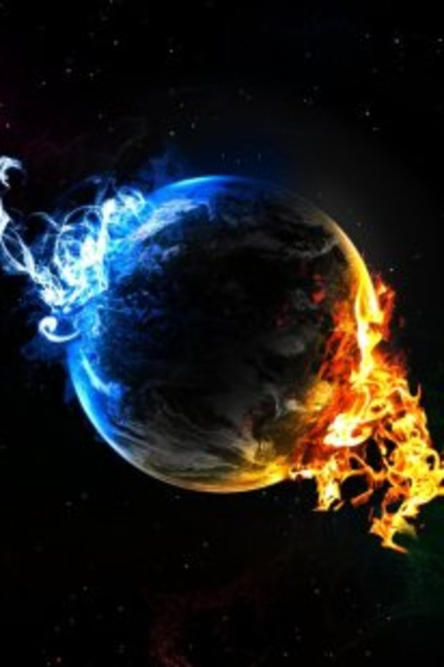 Earth Between Fire And Ice Wallpaper for Apple iPhone 4   Hellaphone 640x960
