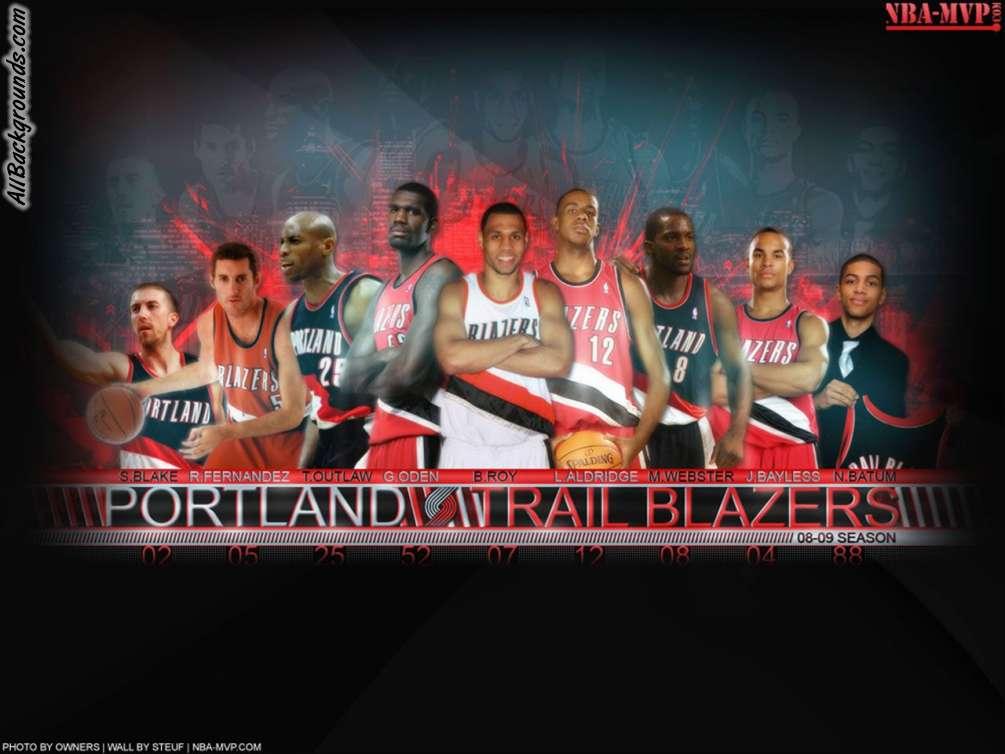 Portland Trail Blazers Backgrounds   Twitter Myspace Backgrounds 1005x754