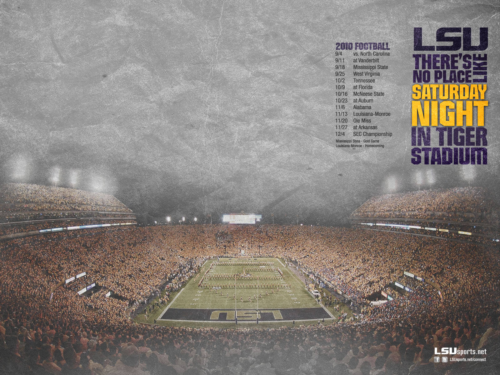 50+] LSU Tiger Stadium Wallpaper on