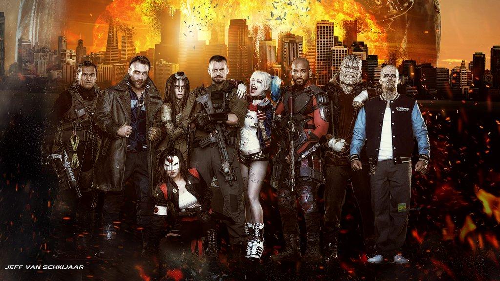 Suicide Squad Movie Fanart Wallpaper by jeffery10 1024x576