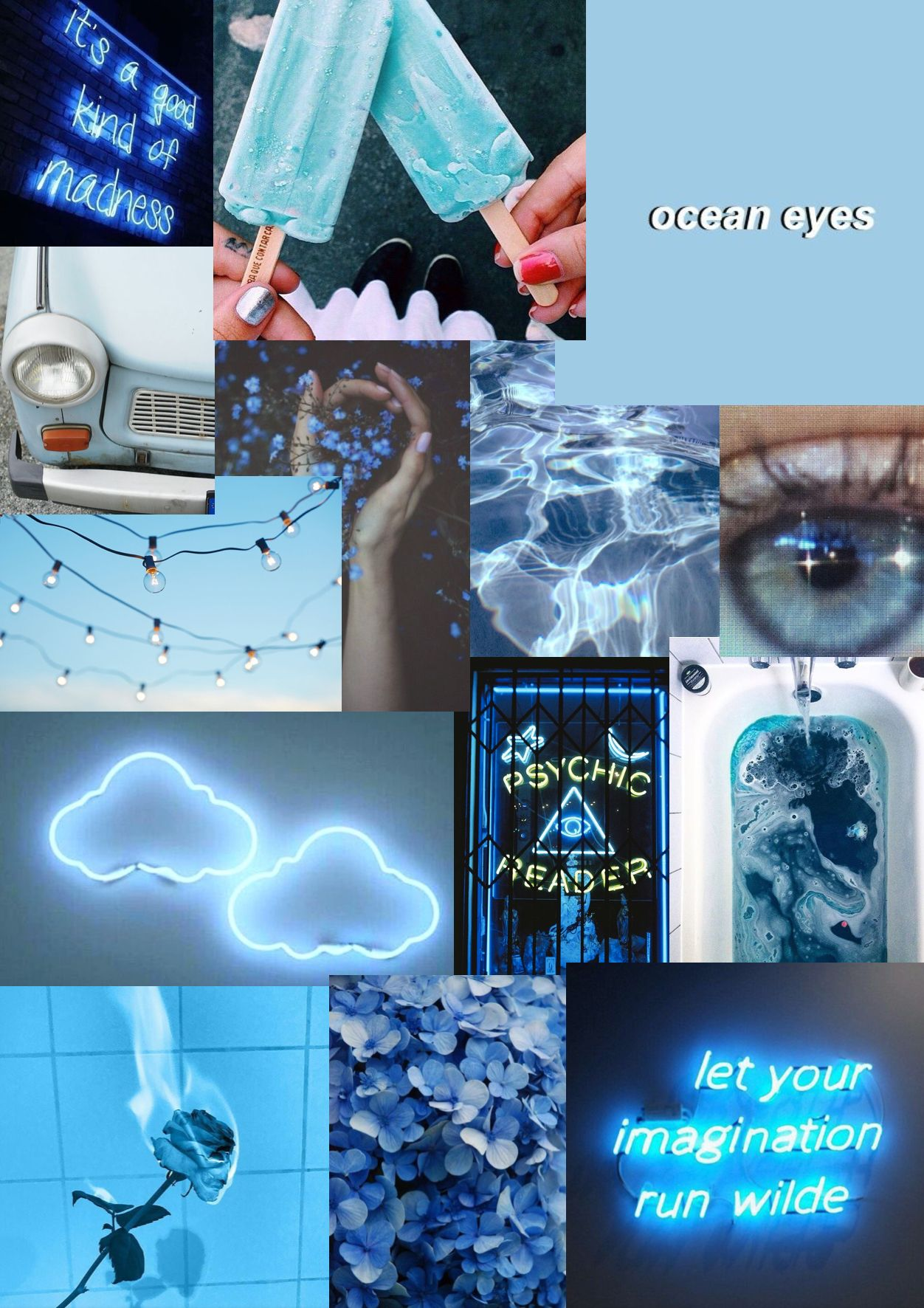 Free Download Pin By Genevieve Kerley On Wallpapers Blue Aesthetic