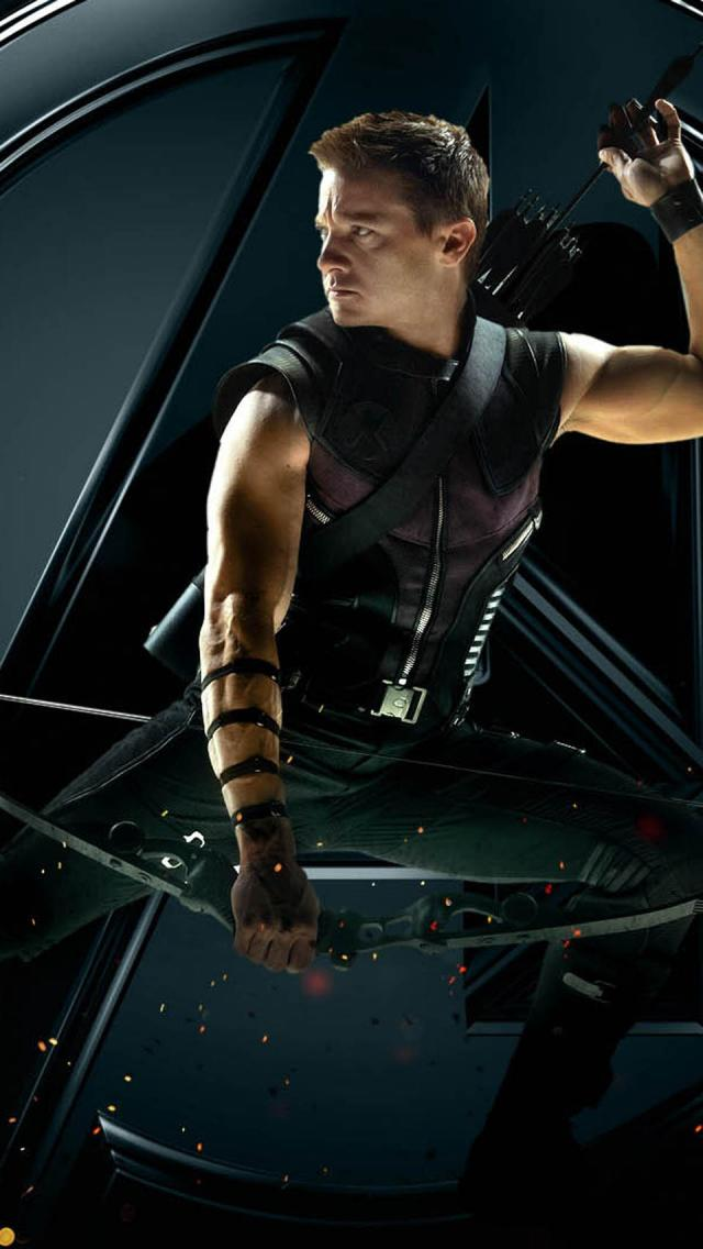 The Avengers Hawkeye   The iPhone Wallpapers 640x1136