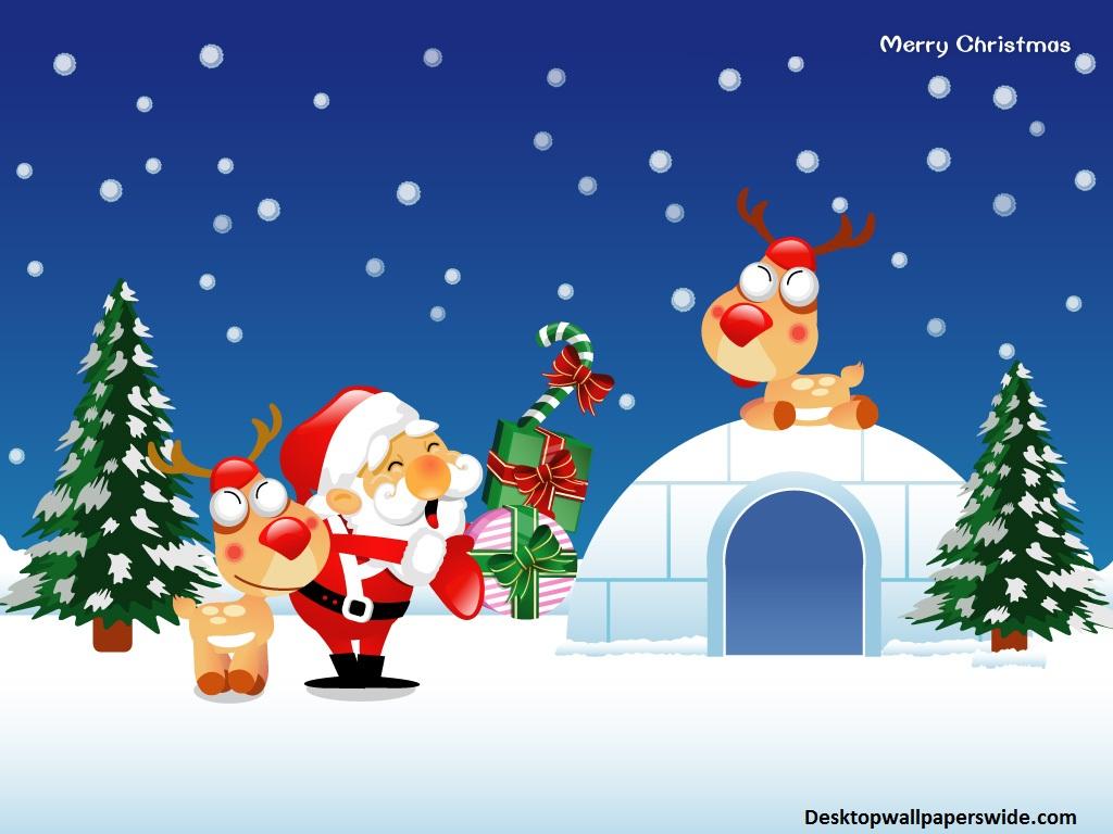 christmas cartoon wallpaper for desktop - wallpapersafari