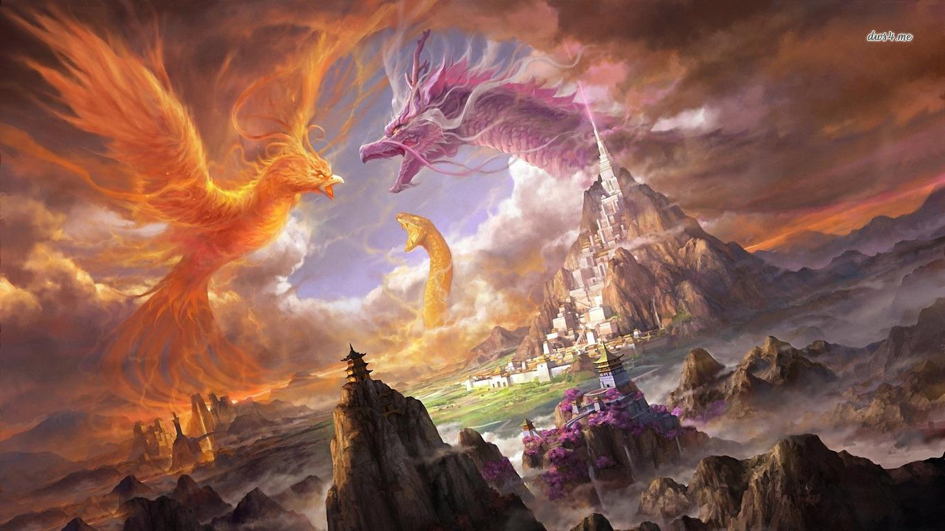Fantasy Phoenix Wallpaper 17 Desktop Background Wallpaper 1366x768