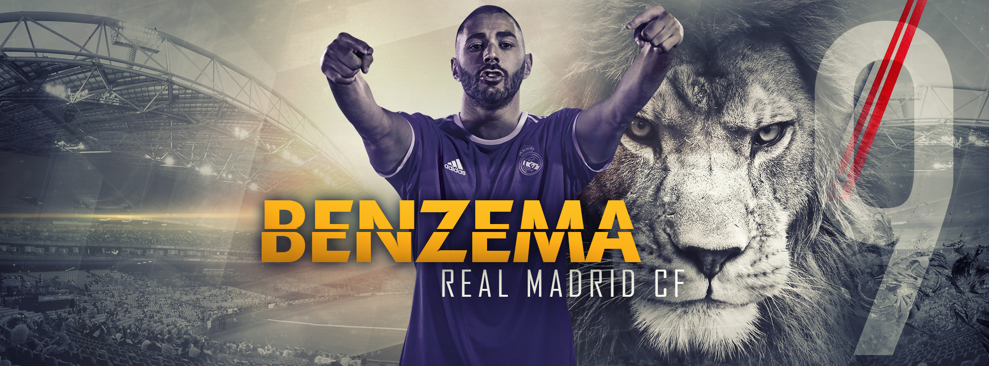 Karim Benzema   Real Madrid by Kerimov23 2000x740