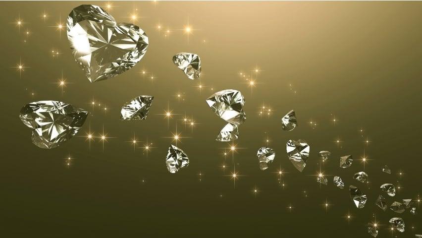 Diamond Love Hearts desktop wallpapers and stock photos 852x480