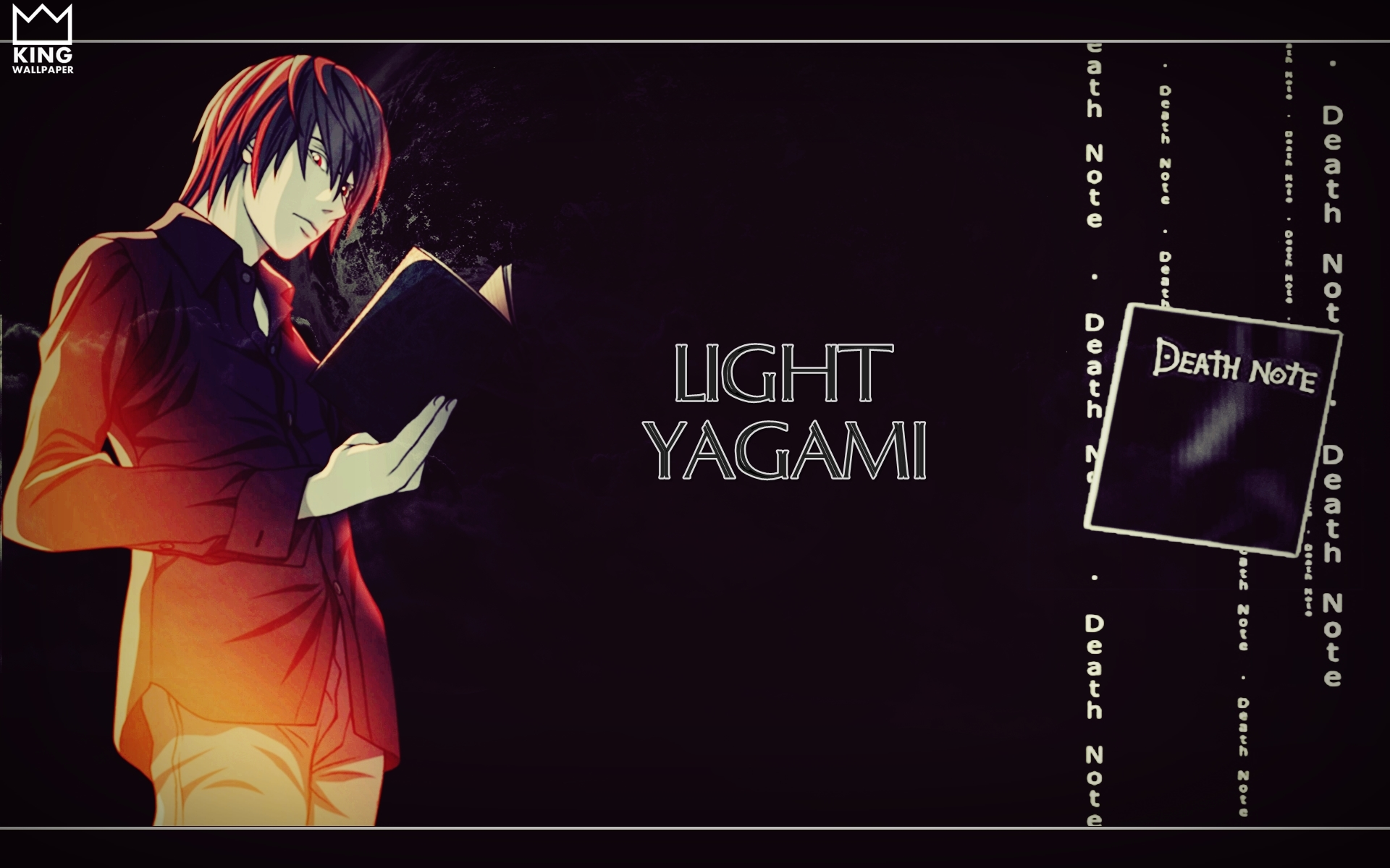 Light Yagami Wallpaper   Death Note by Kingwallpaper 1920x1200