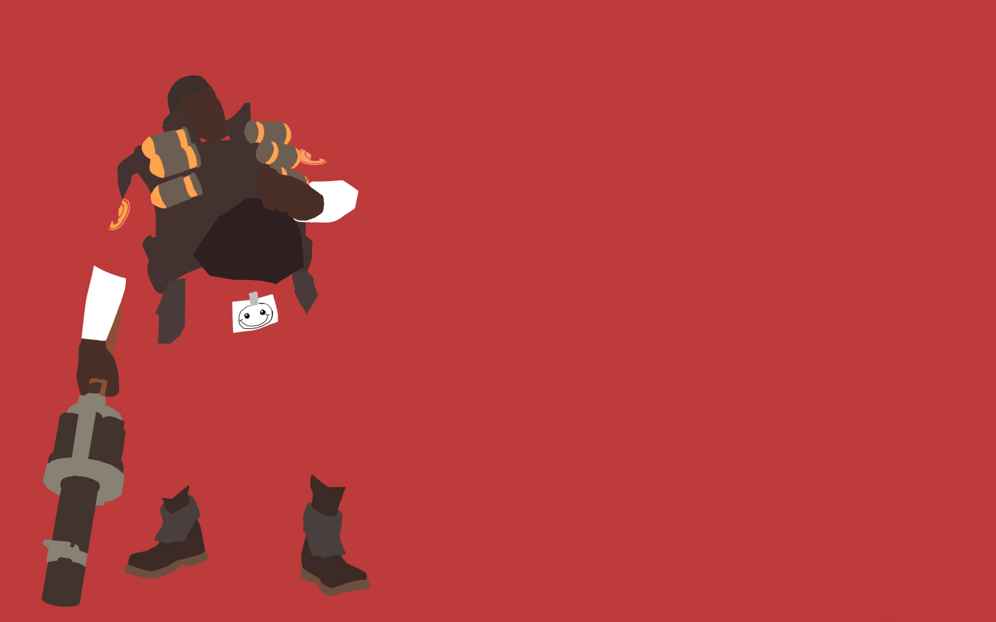 TF2 Red Demoman Minimalist Wallpaper by bohitargep 1440x900
