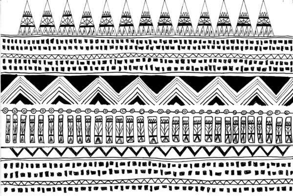 Aztec Tribal Black And White Art Print By Bananarama Society6 600x401