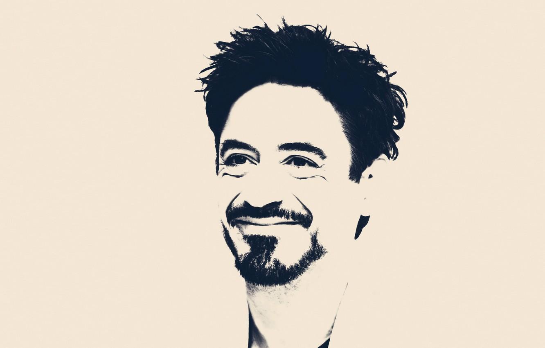 Wallpaper portrait art Robert Downey Jr images for desktop 1332x850