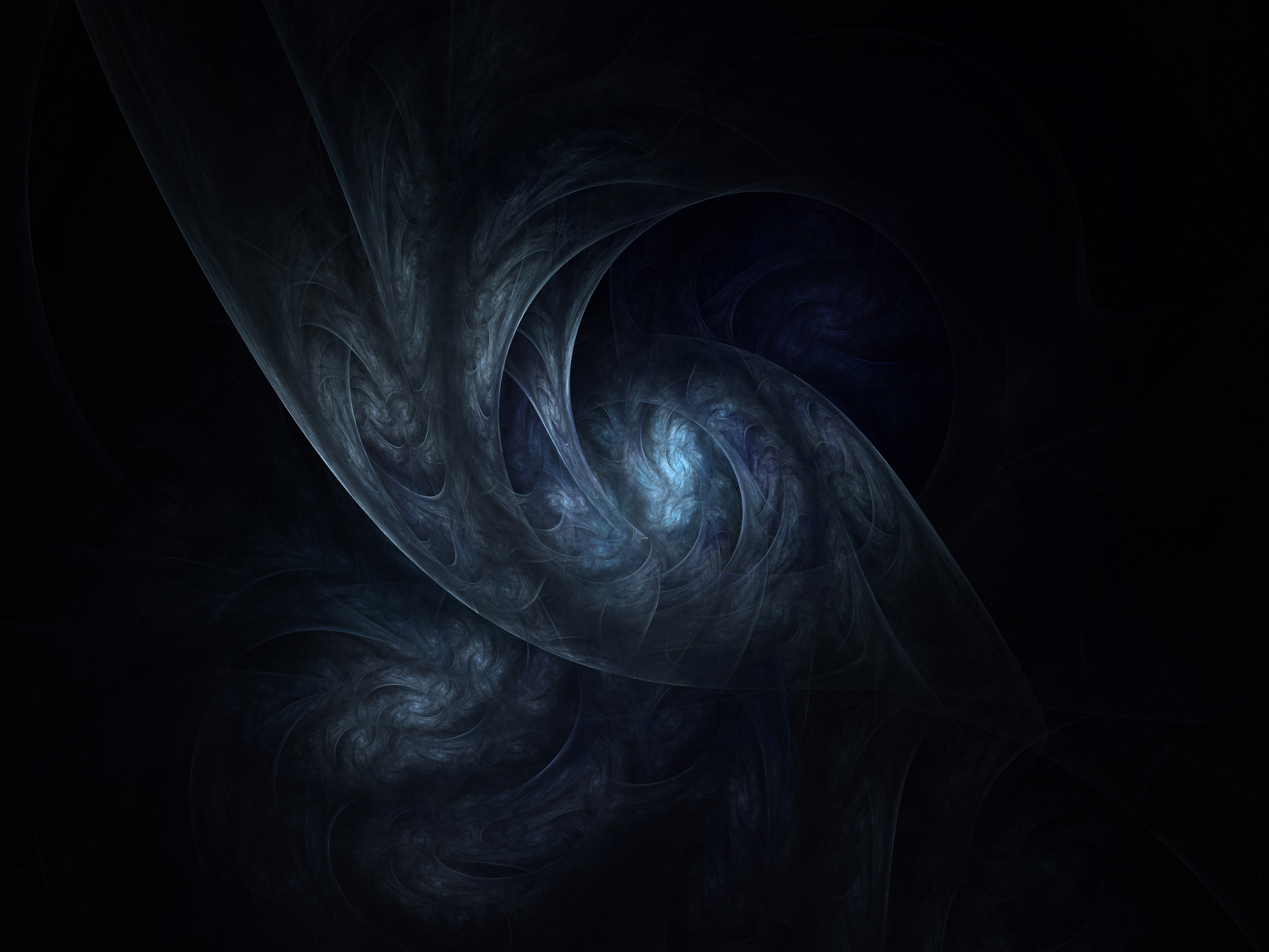 texture dark web abstract nether world abyss blue grey light wallpaper 4000x3000