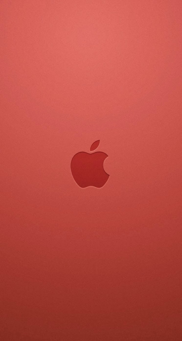 iPhone 5 Wallpaper Parallax apple logo red 744x1392
