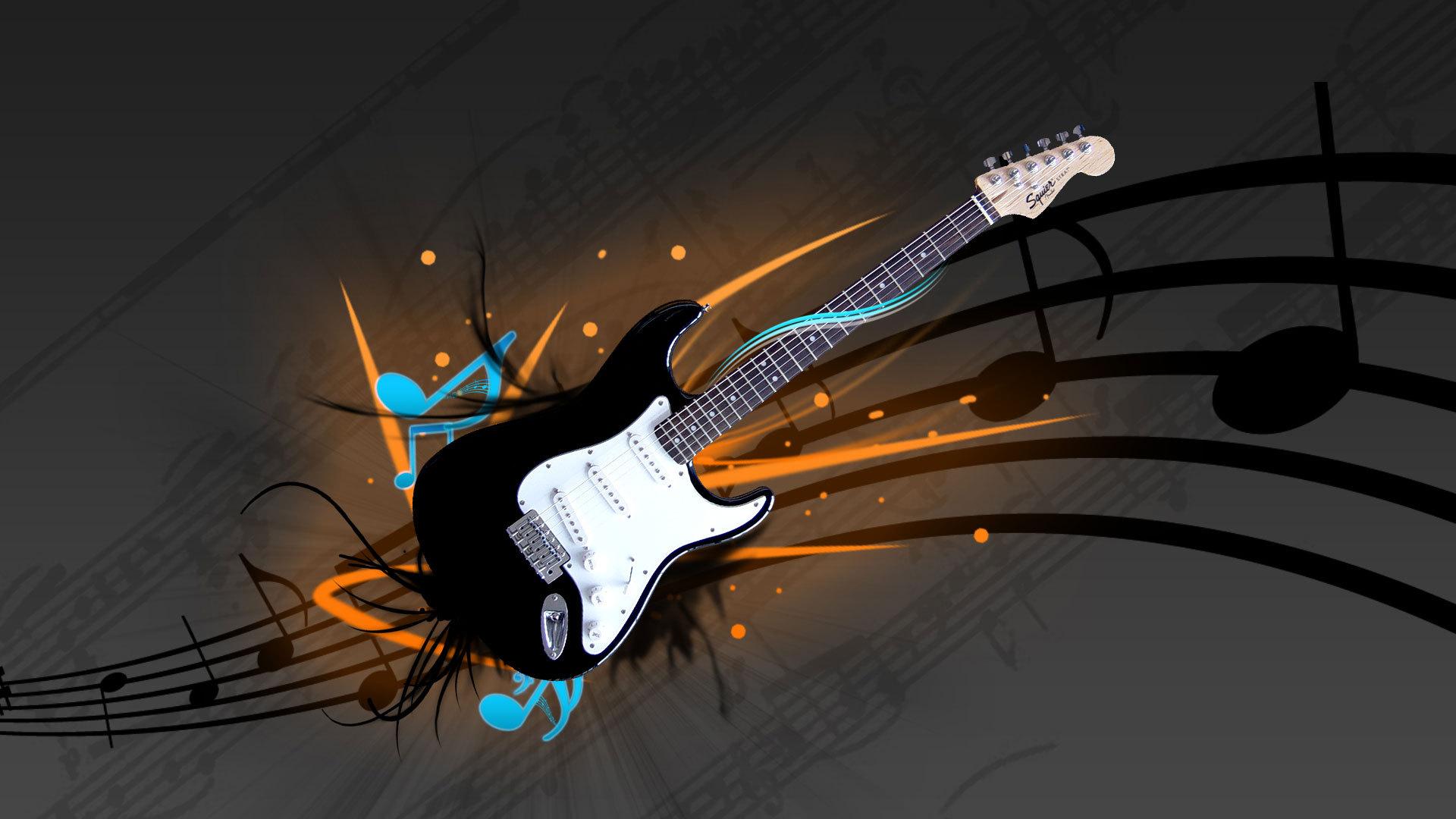guitar electric guitar stratocaster fender squier music wallpaper 1920x1080