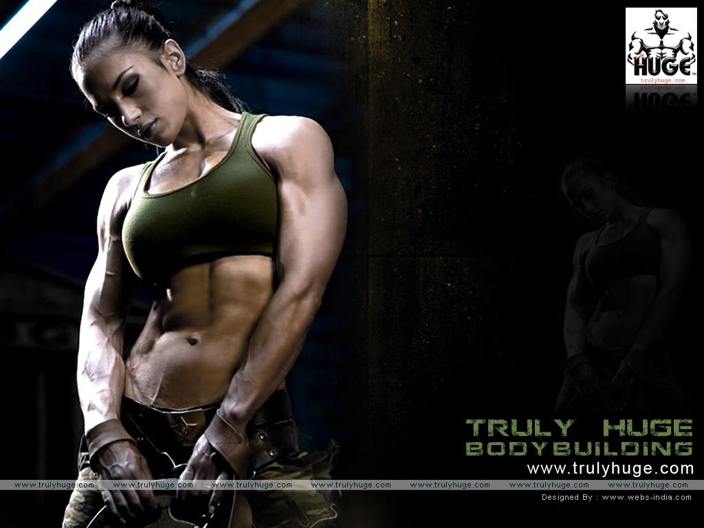 download female bodybuilder wallpaper 1024x768
