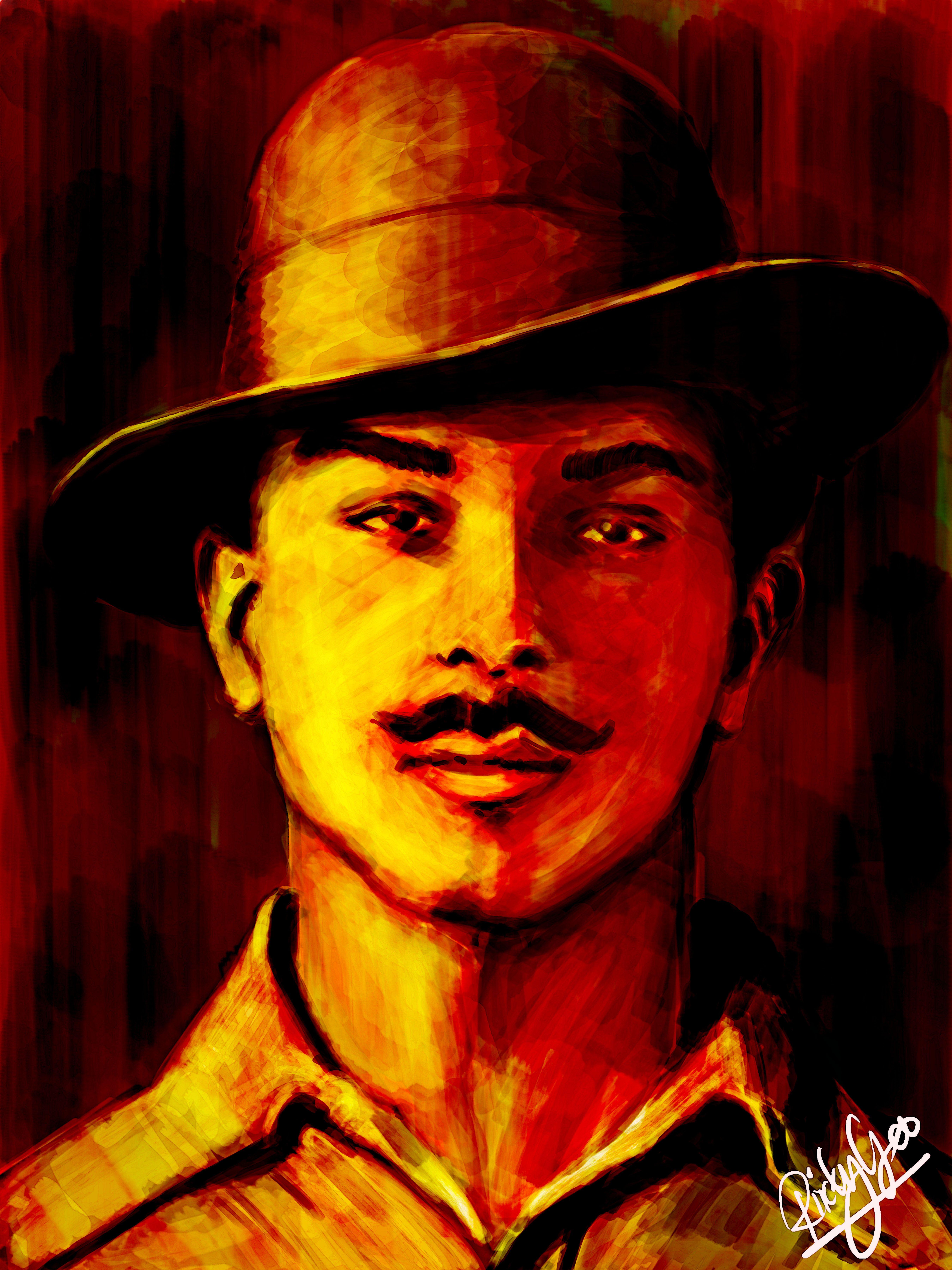 Bhagat Singh Indian Freedom Fighter Bhagat singh Bhagat singh 5400x7200
