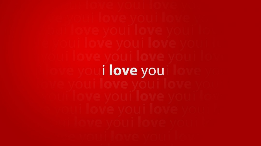 Love You Red Wallpapers HD Wallpaper 1080x607 I Love You Red 1080x607