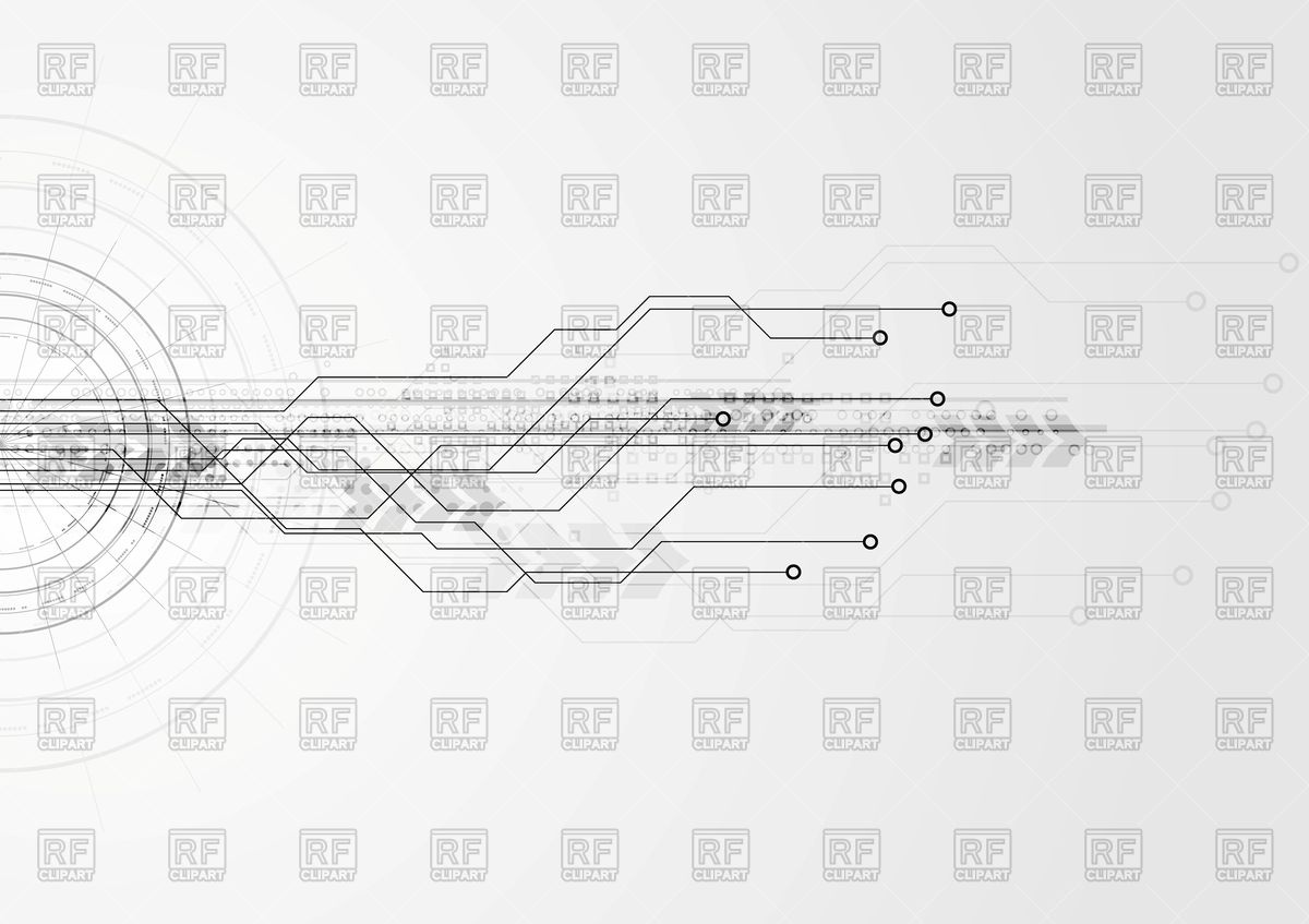 Tree Design On Circuit Board Wallpaper Vector Image: Grey Backgrounds Marketing Wallpaper