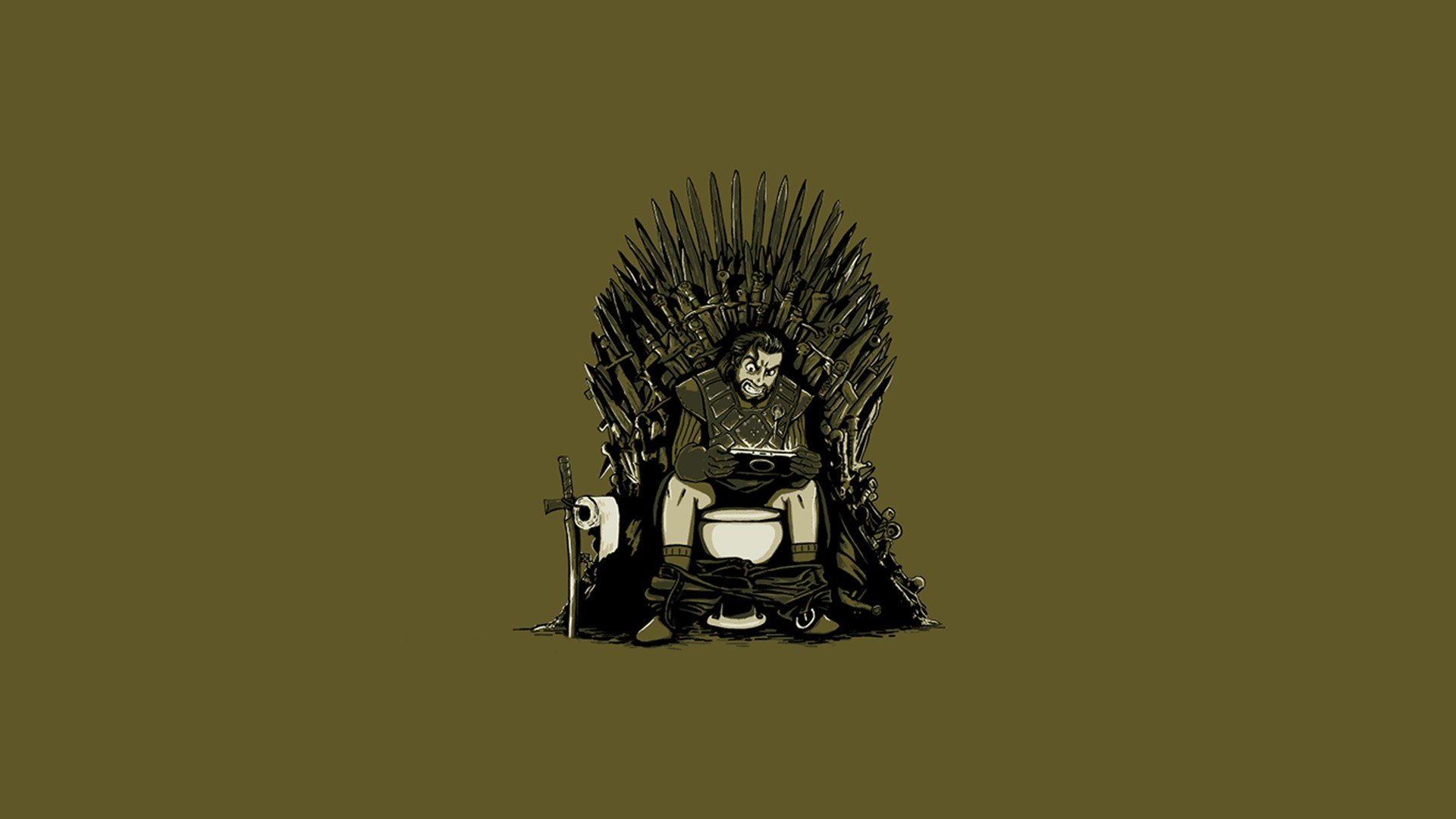 minimalistic funny artwork Game of Thrones simple background wallpaper 1920x1080