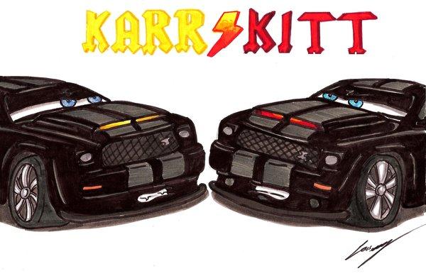 KITT vs KARR 2008 by Lowrider Girl 600x389