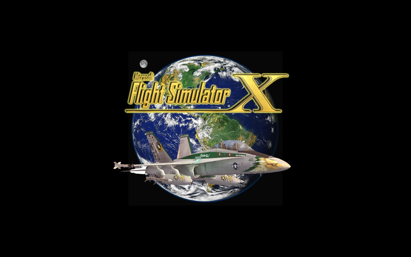 Desk top wallpaper background wallpaper Flight Simulator X 1440x900