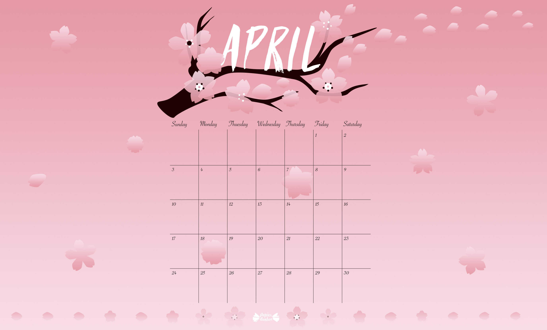 April Desktop Wallpaper Crafthubs 3000x1810 24578 KB 3000x1810