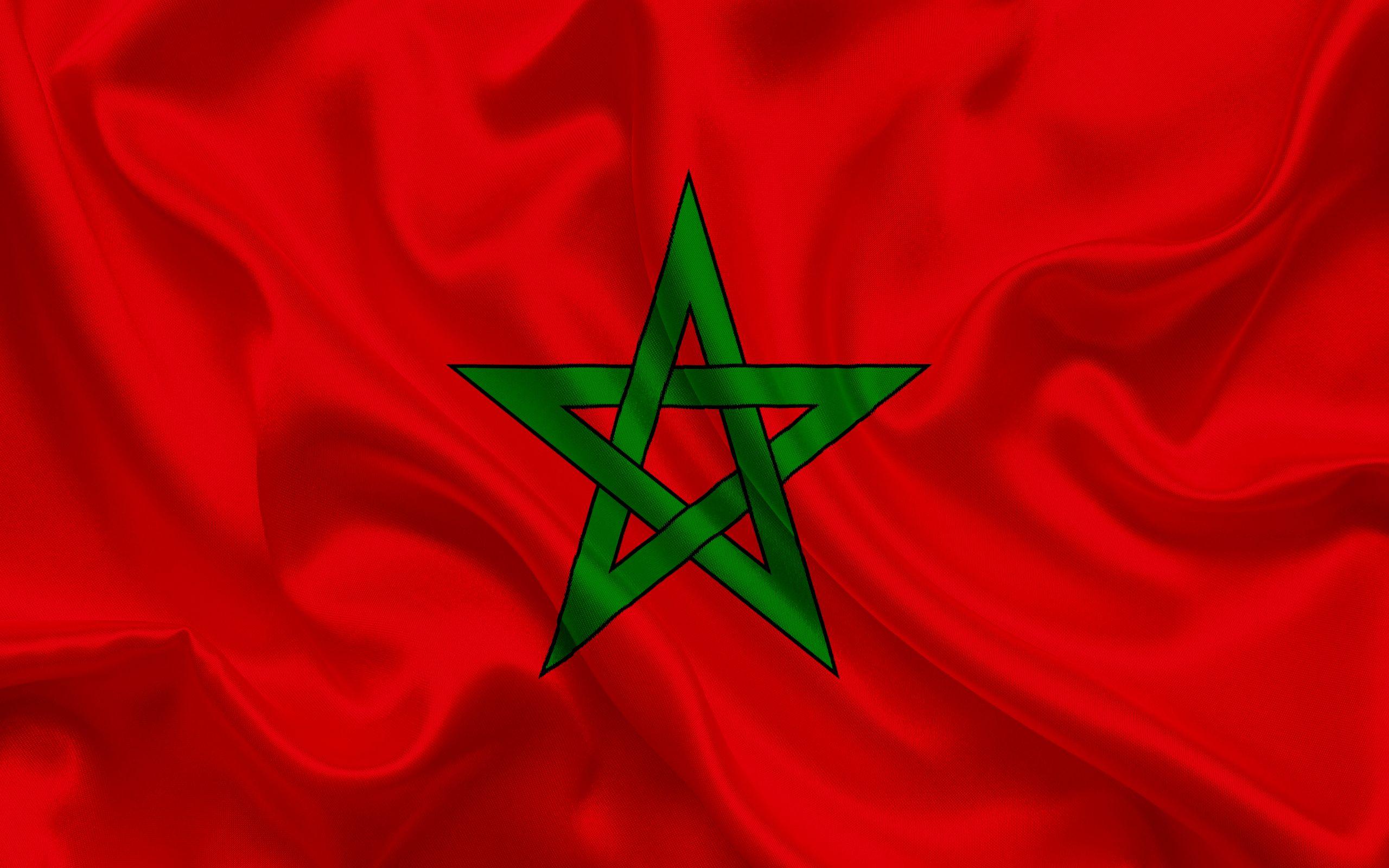 Moroccan flag Morocco North Africa silk flag flag of Morocco 2560x1600