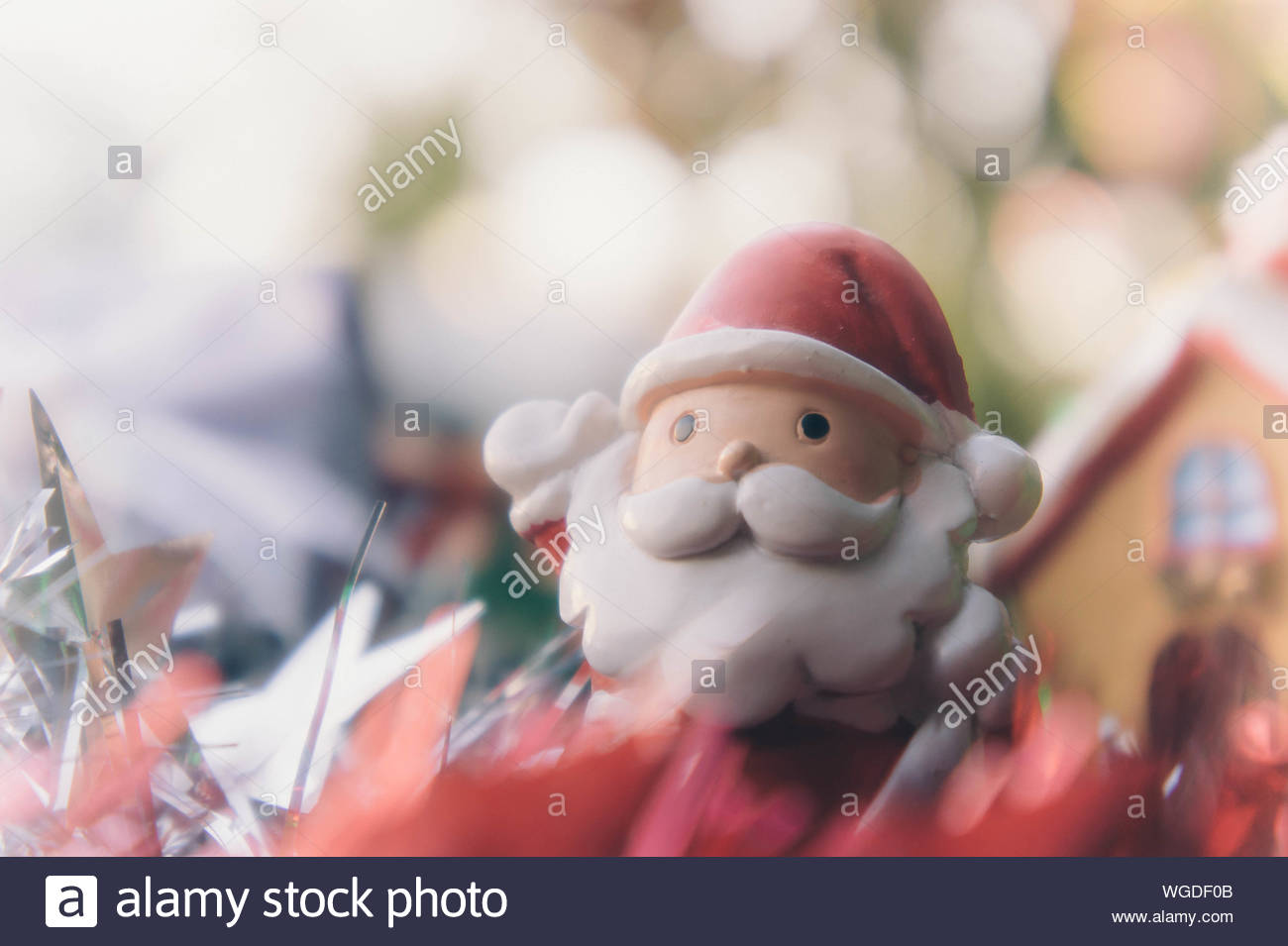 santa claus and chirstmas background Stock Photo 268287163   Alamy 1300x955