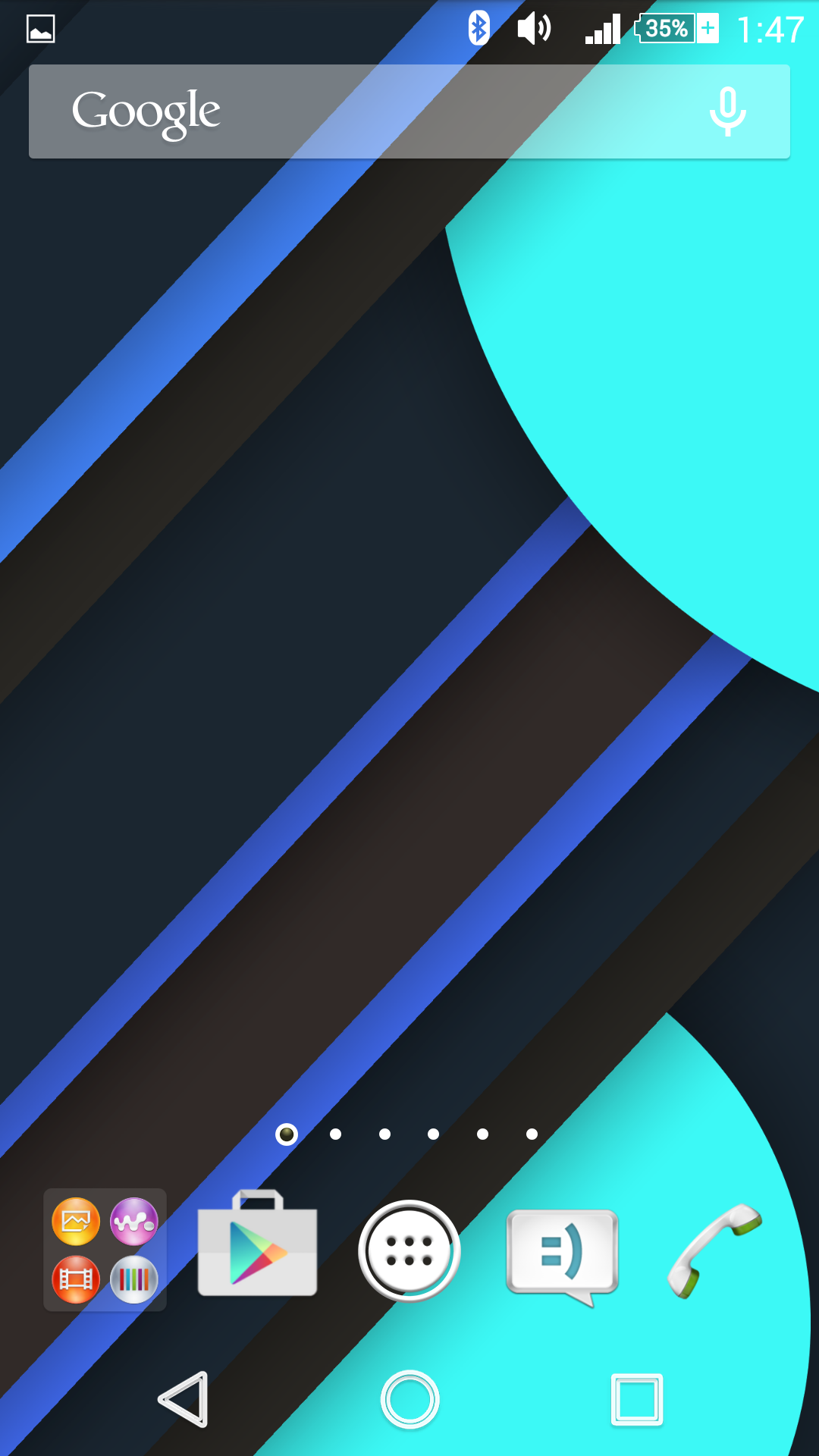 Material design wallpaper on Xperia Z2 Home Screen 1080x1920