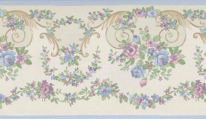 Small Floral Trail Wallpaper Border   Traditional WallpaperBorders 676x391