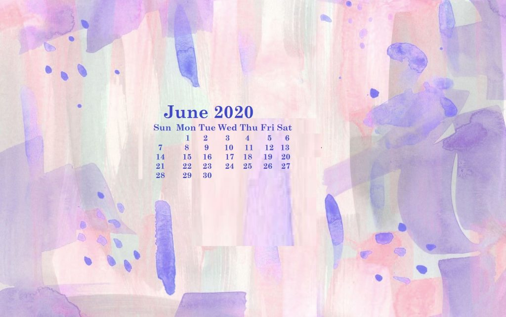 Monthly 2020 Desktop Calendar Wallpaper 1024x641