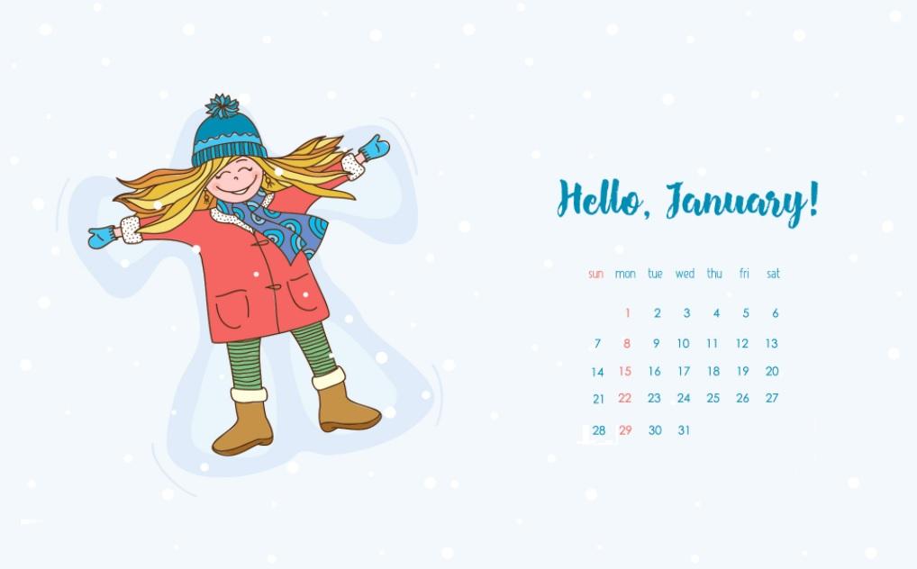 January 2018 HD Calendar Calendar 2018 1018x632