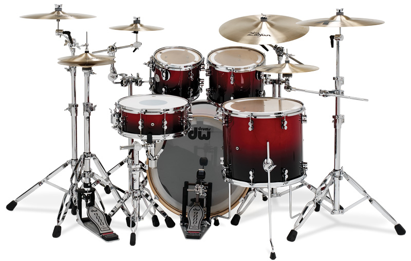 PDP Kits   Pacific Drums and Percussion Platinum Series   Fire Engine 800x509