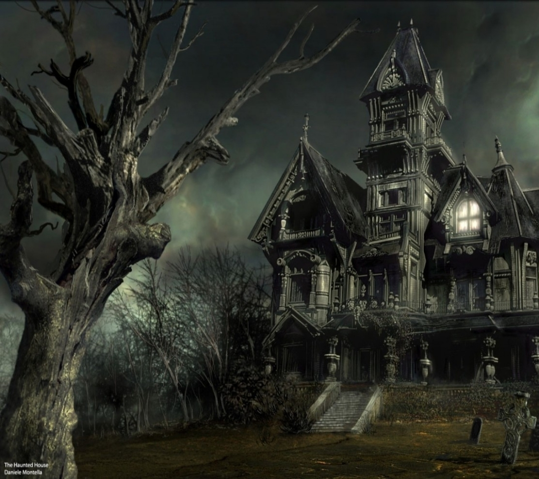 3d haunted house 1440x990 wallpaper Wallpaper Wallpapers 1080x960