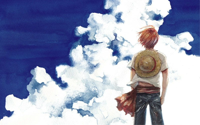 clouds one piece anime shanks Wallpaper 800x500
