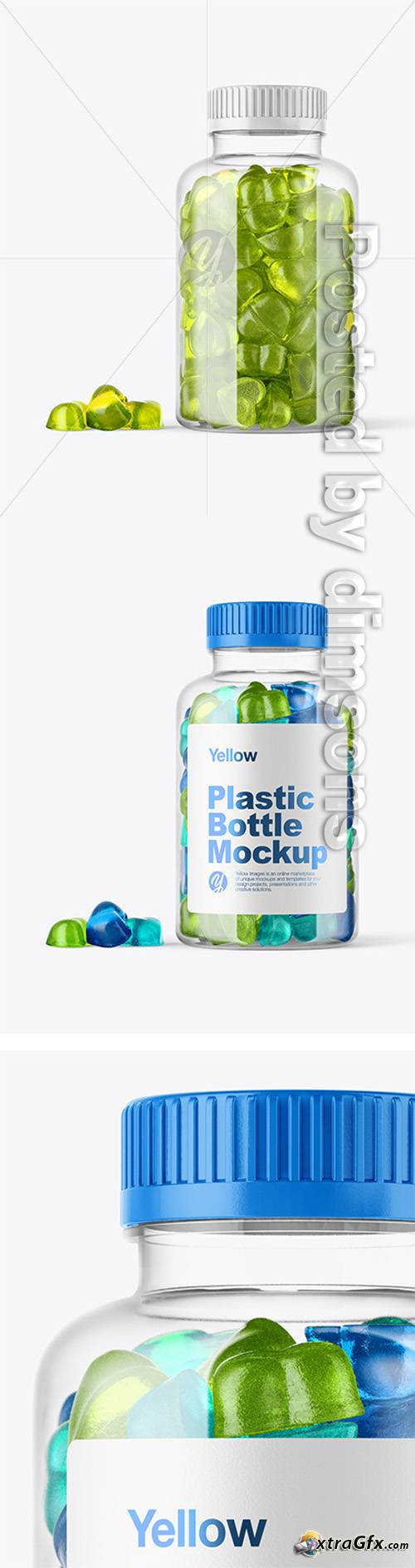 Plastic Bottle with Gummies Mockup 38698 TIF xtraGFX Creating 500x1888