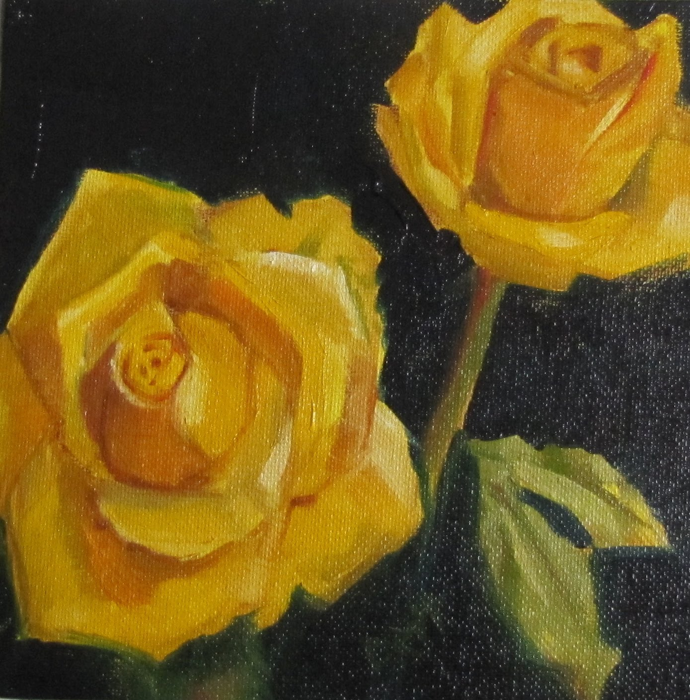 Red Rose Oil Painting   PicsAnt 1389x1409