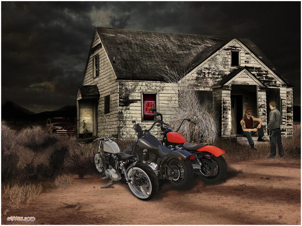 Outlaw biker bar by Gixxerman 1280x960