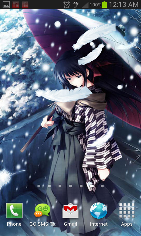 Anime Snow Live Wallpaper app download for Android 480x800
