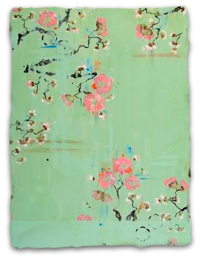 Artist Kathe Fraga French Wallpaper Series evoke the hand painted