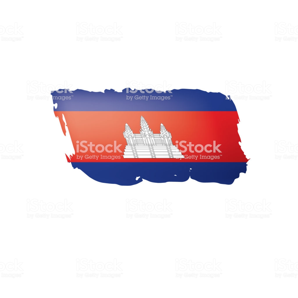 Cambodia Flag Vector Illustration On A White Background Stock 1024x1024