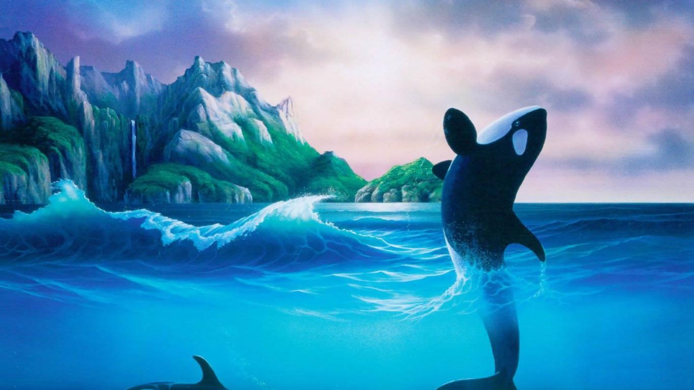 Orca Whale Wallpapers 1366x768