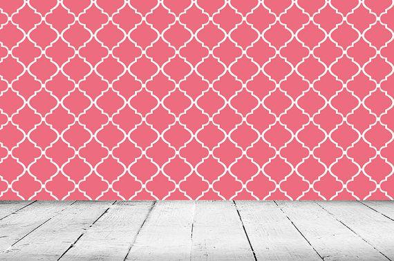 Removable Wallpaper  Moroccan Lattice  Peel Stick Self Adhesive Fab 570x378