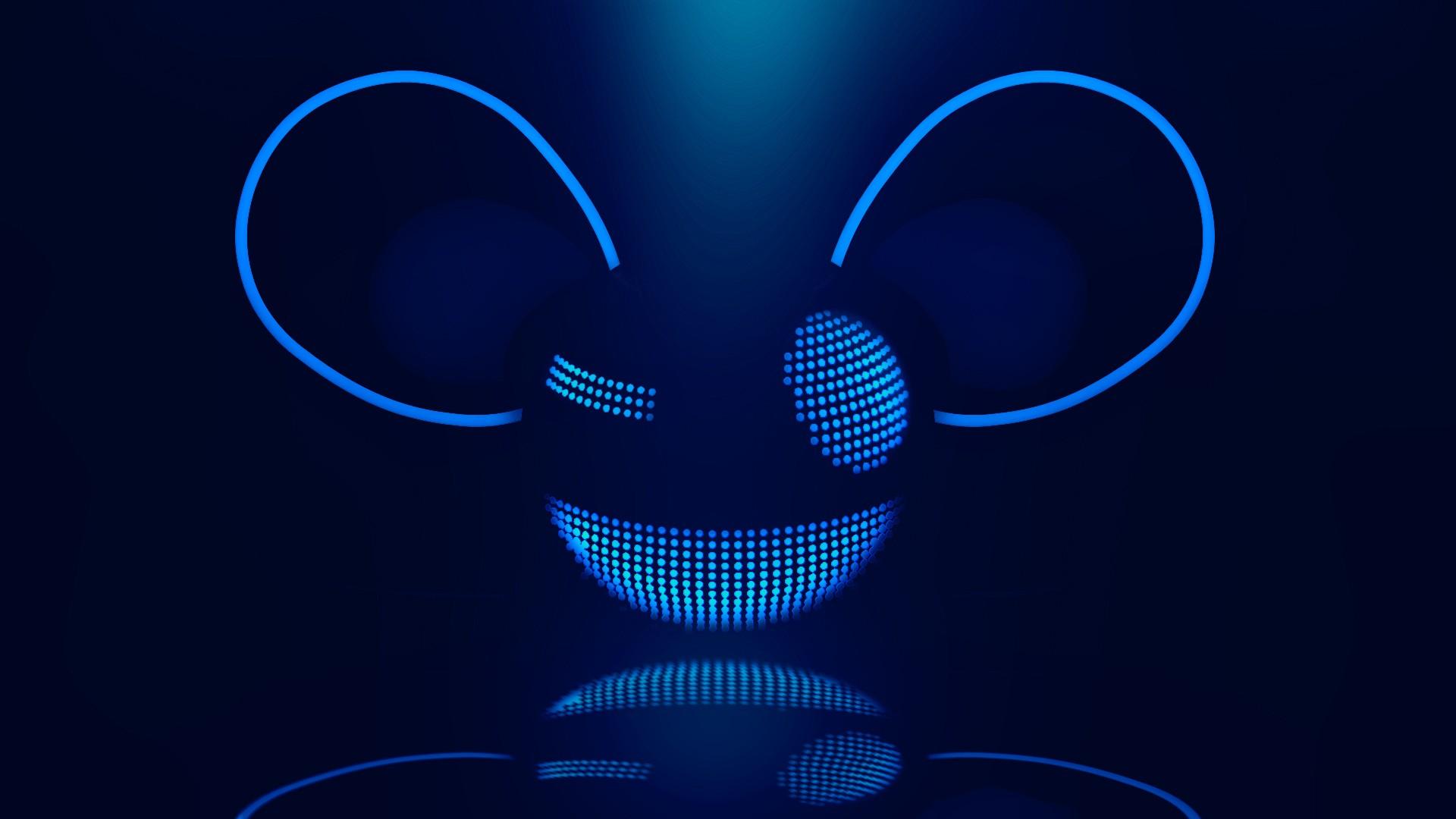 Blue Music Wallpaper 1920x1080 Blue Music Deadmau5 Logos DJ 1920x1080
