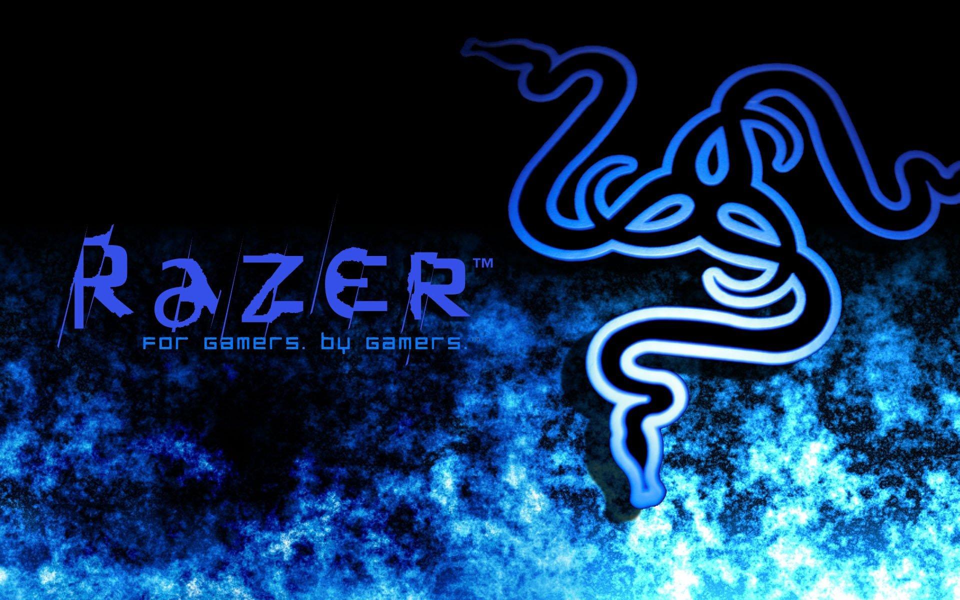 Blue gaming wallpaper wallpapersafari for Sfondi razer