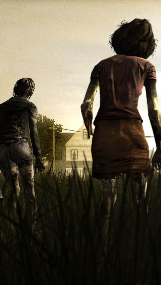 search the walking dead game iphone wallpaper tags dead game walking 640x1136