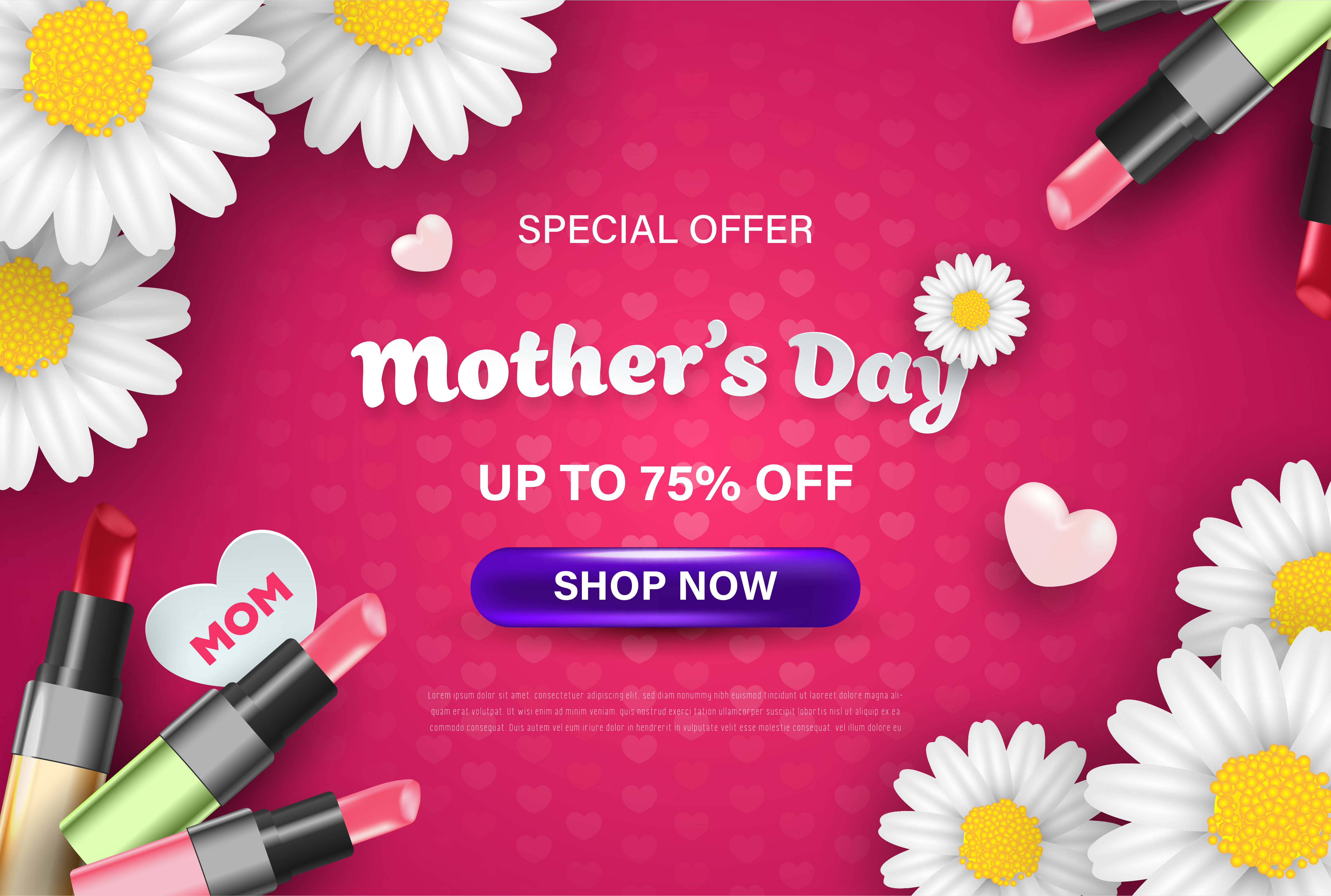 Happy Mothers Day Sale Celebration Wallpaper   Download 4950x3332