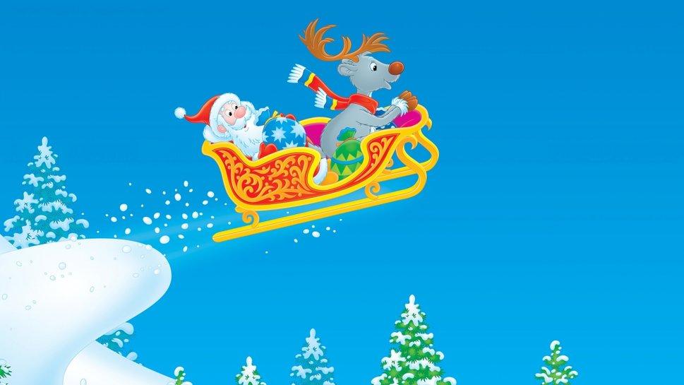 santa claus Navidad vuelo wallpaper 969x545