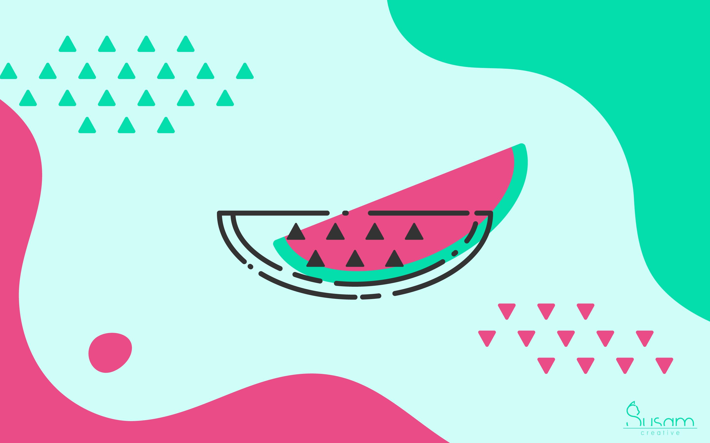 June 2018 Wallpaper Limitless Summer Watermelon   Susam Creative 2880x1800