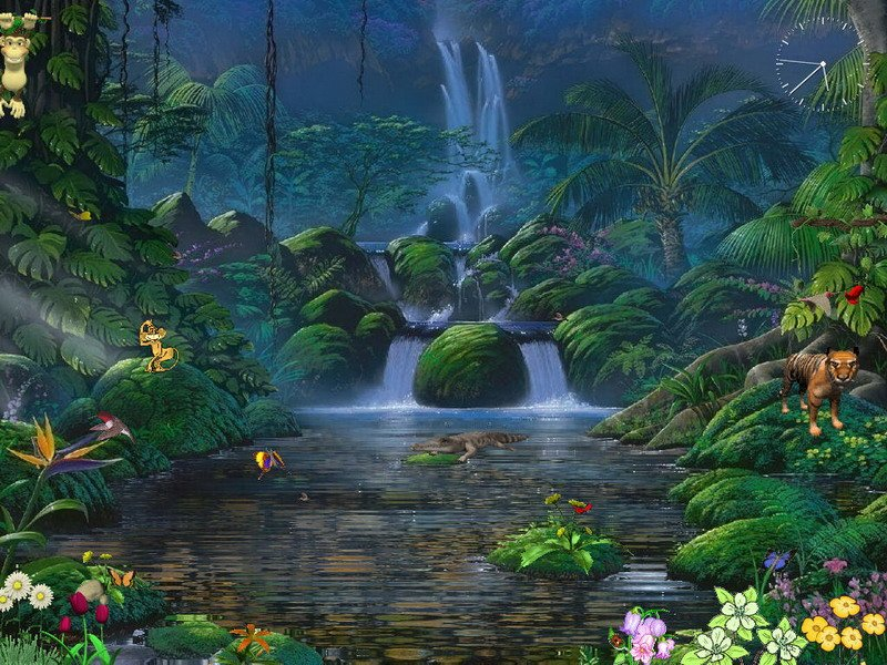 Animated Screensaver   Fascinating Waterfalls   FullScreensavers 800x600