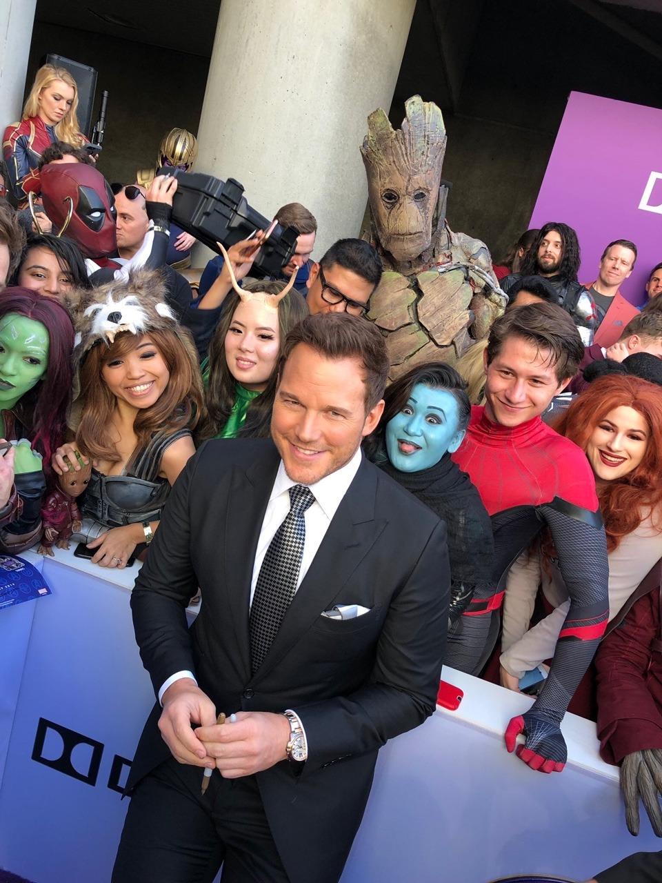 Avengers Infinity War 1 2 images Chris Pratt at the Avengers 960x1280